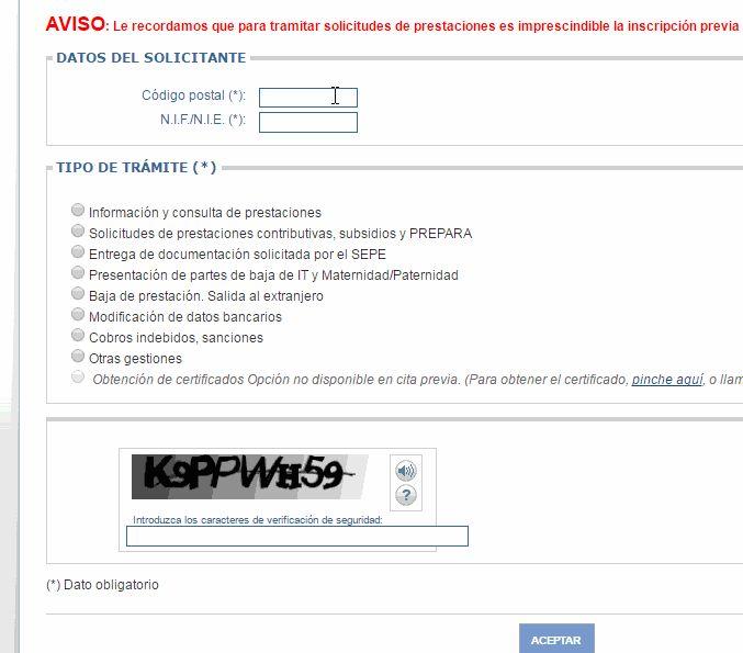 Cita previa para prestaciones malaga creditofletjass for Oficina virtual inem para sellar