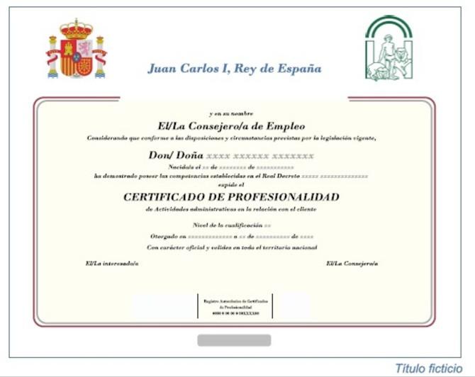 que es el certificado de profesionalidad