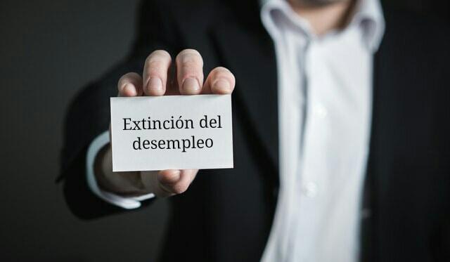 extinción del desempleo
