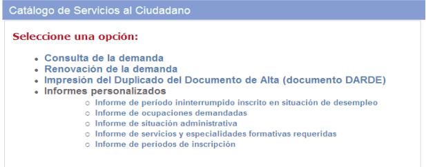 renovar la demanda de empleo en Madrid