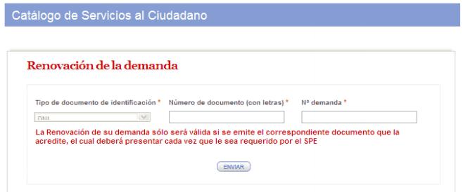 C mo renovar la demanda de empleo en madrid www for No puedo entrar en bankia oficina internet